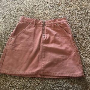 top shop pink denim skirt !